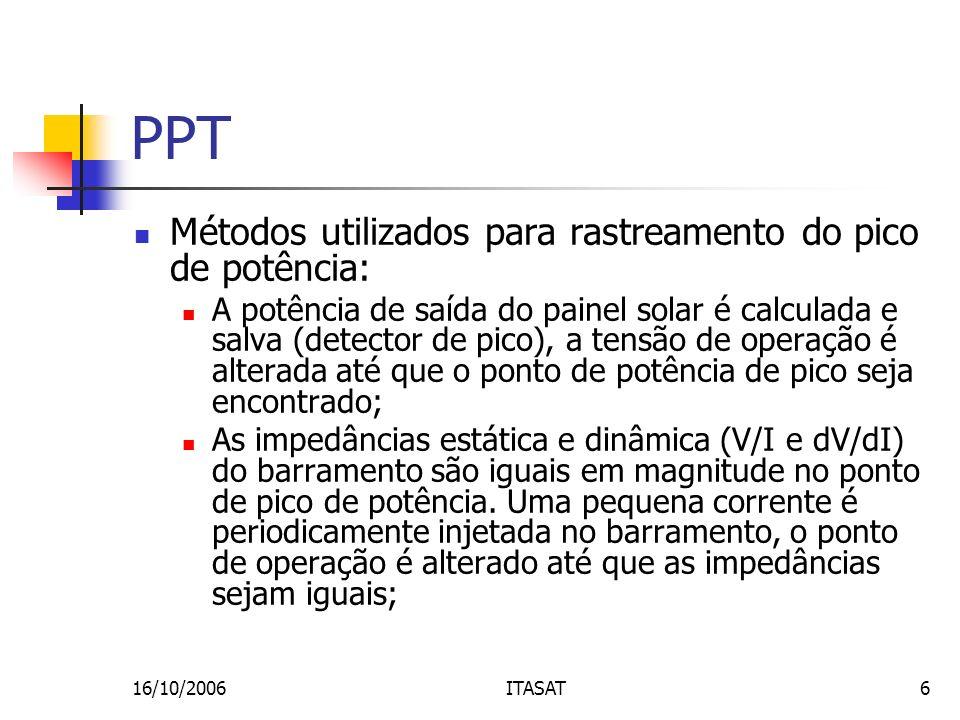 PPT Métodos utilizados para rastreamento do pico de potência: