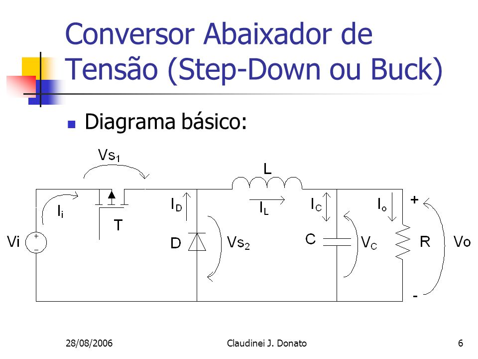 Conversor Abaixador de Tensão (Step-Down ou Buck)