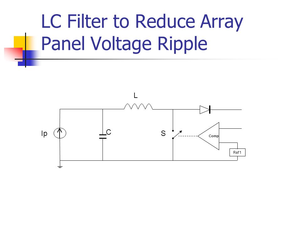LC Filter to Reduce Array Panel Voltage Ripple