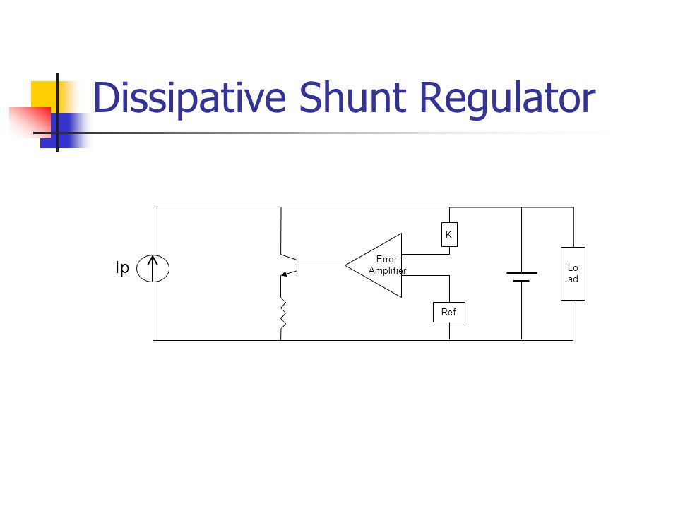 Dissipative Shunt Regulator