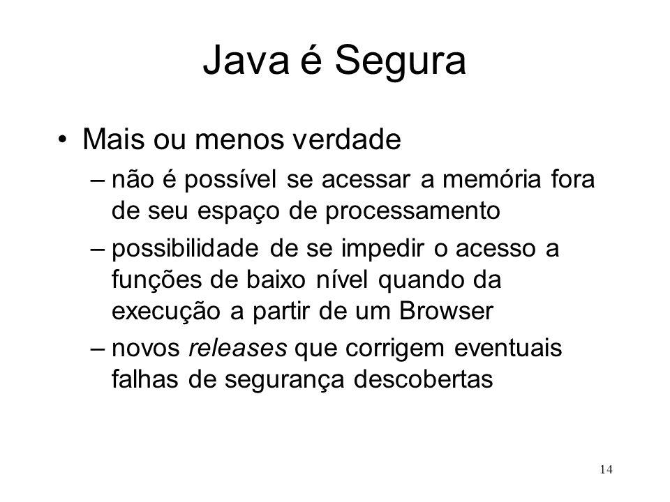 Java é Segura Mais ou menos verdade
