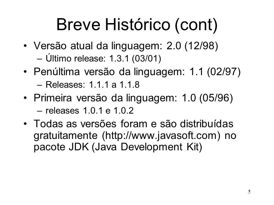 Breve Histórico (cont)