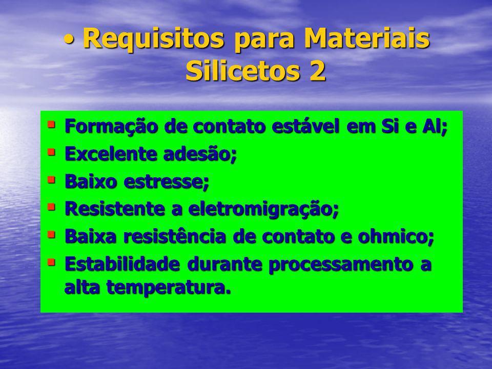 Requisitos para Materiais Silicetos 2