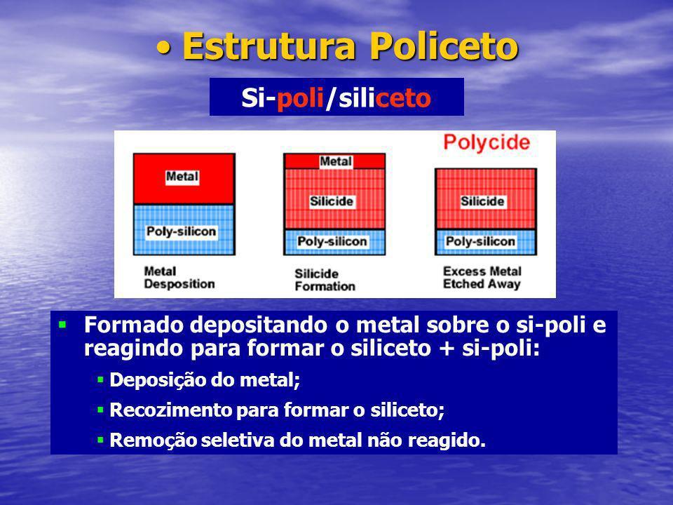 Estrutura Policeto Si-poli/siliceto