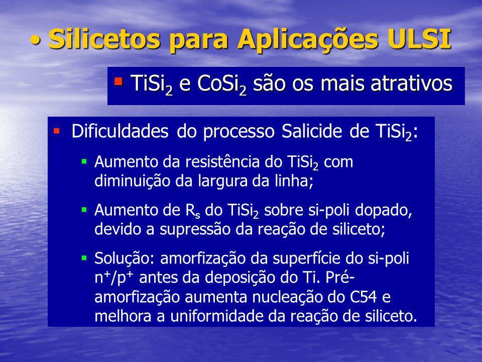 Silicetos para Aplicações ULSI