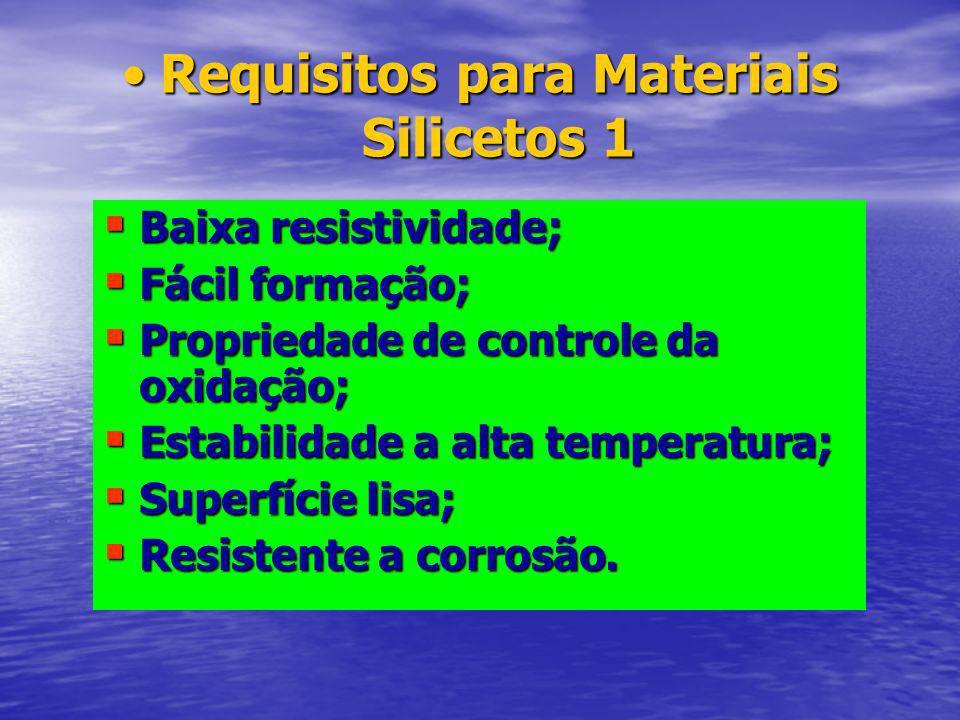 Requisitos para Materiais Silicetos 1