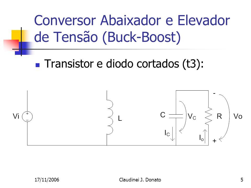 Conversor Abaixador e Elevador de Tensão (Buck-Boost)