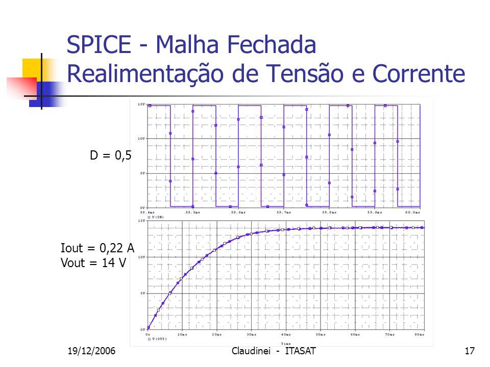 SPICE - Malha Fechada Realimentação de Tensão e Corrente