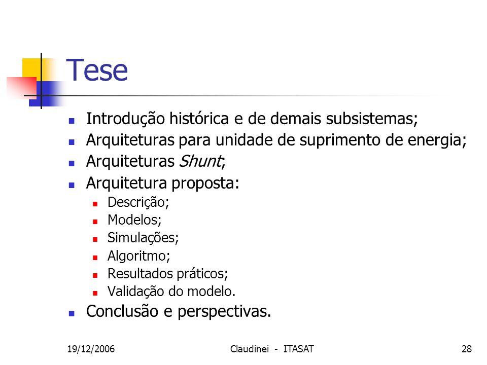 Tese Introdução histórica e de demais subsistemas;