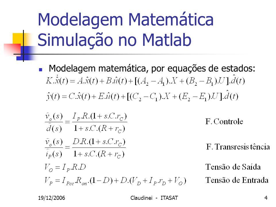 Modelagem Matemática Simulação no Matlab