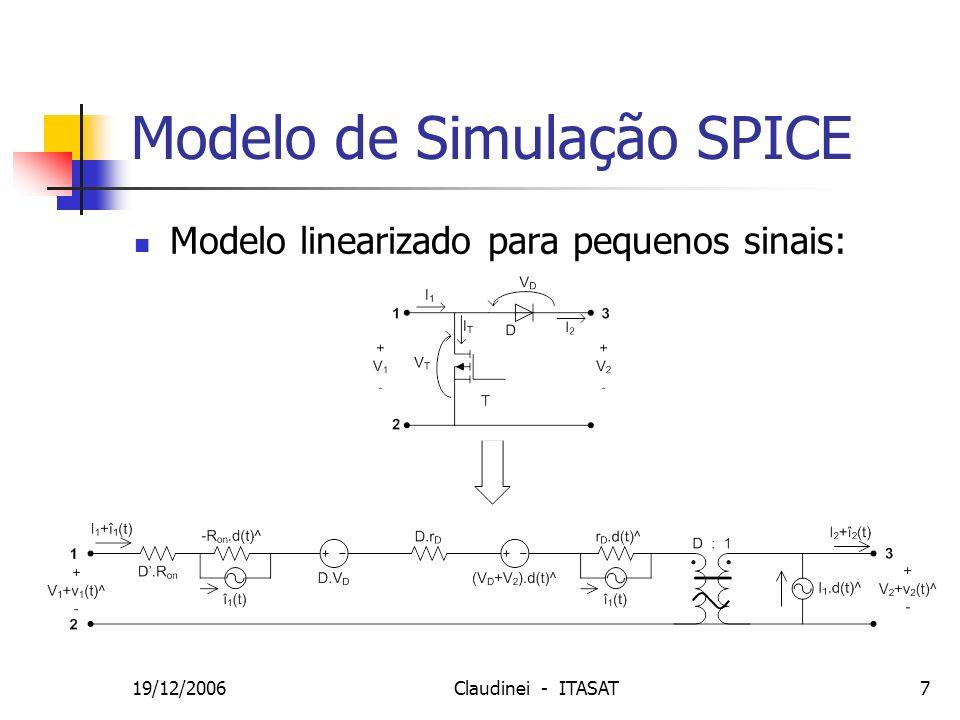 Modelo de Simulação SPICE