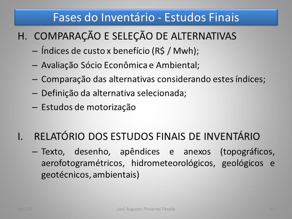 Fases do Inventário - Estudos Finais