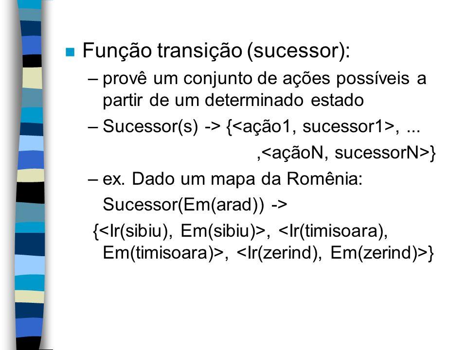 Função transição (sucessor):