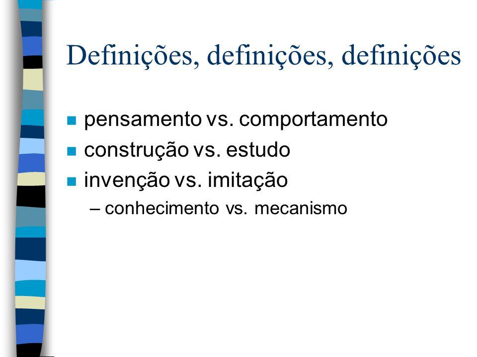 Definições, definições, definições