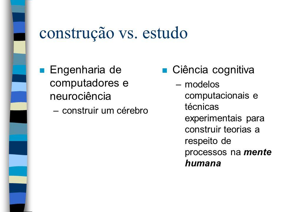 construção vs. estudo Engenharia de computadores e neurociência