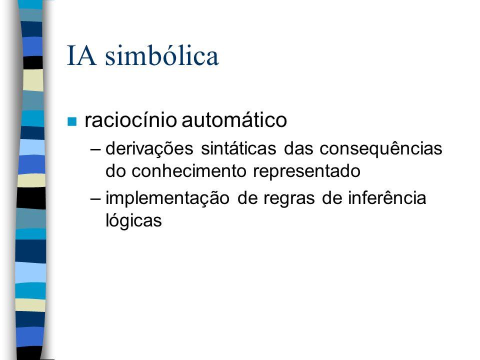 IA simbólica raciocínio automático