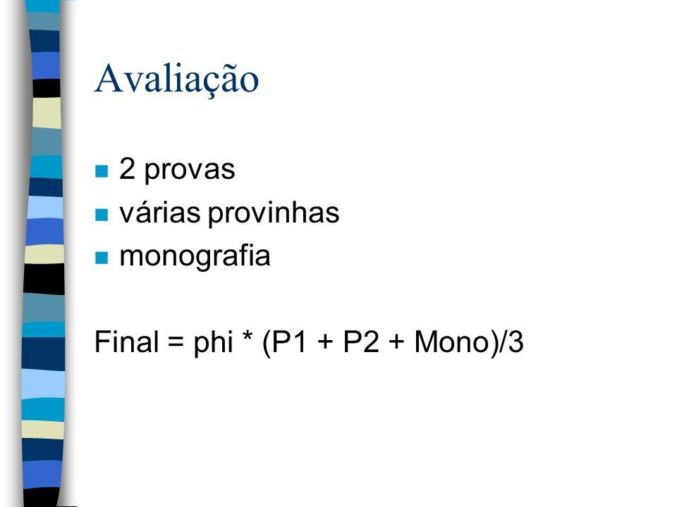 Avaliação 2 provas várias provinhas monografia