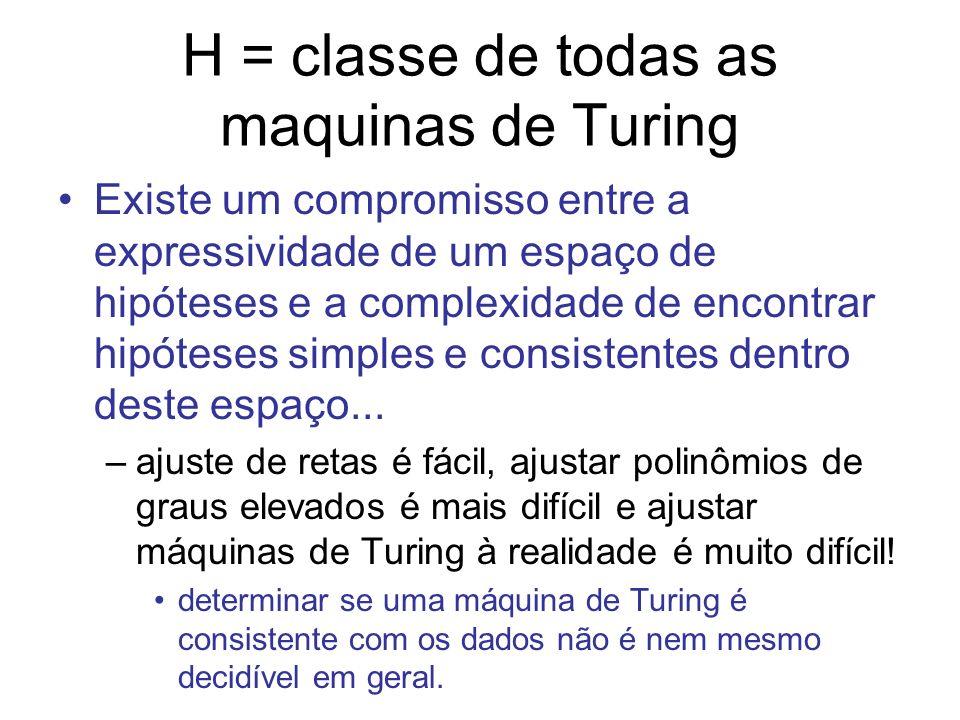 H = classe de todas as maquinas de Turing