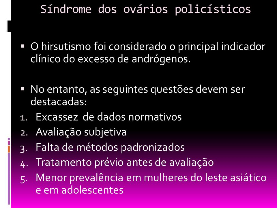 Síndrome dos ovários policísticos