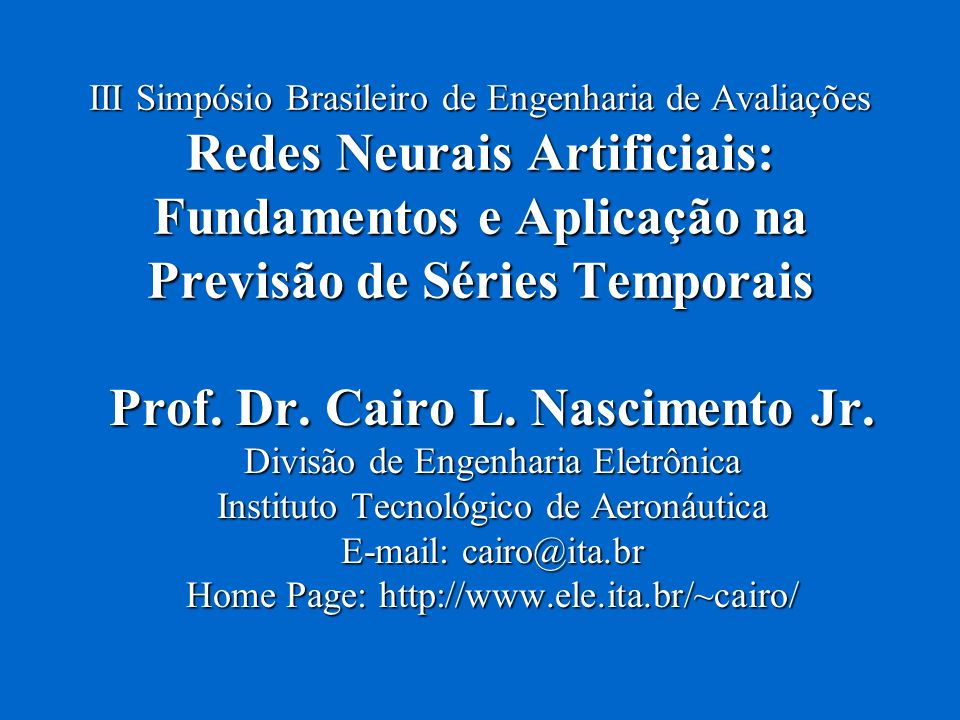 Prof. Dr. Cairo L. Nascimento Jr.