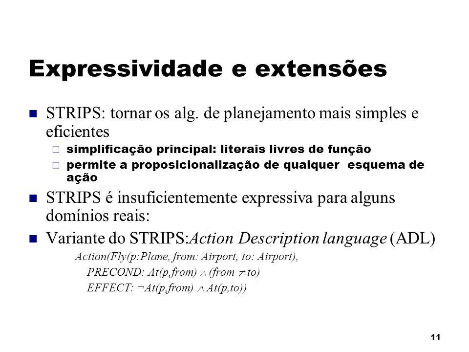 Expressividade e extensões