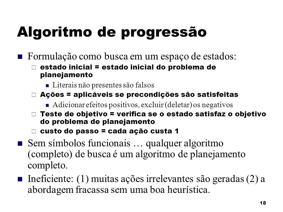 Algoritmo de progressão