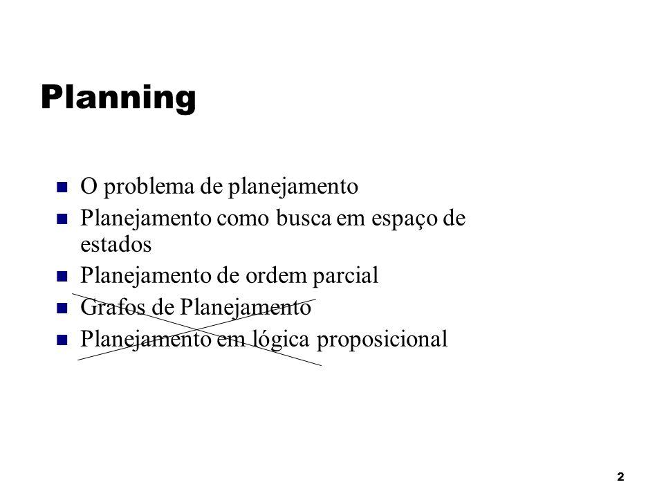 Planning O problema de planejamento