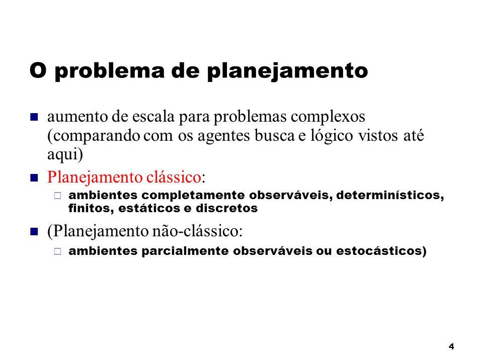 O problema de planejamento