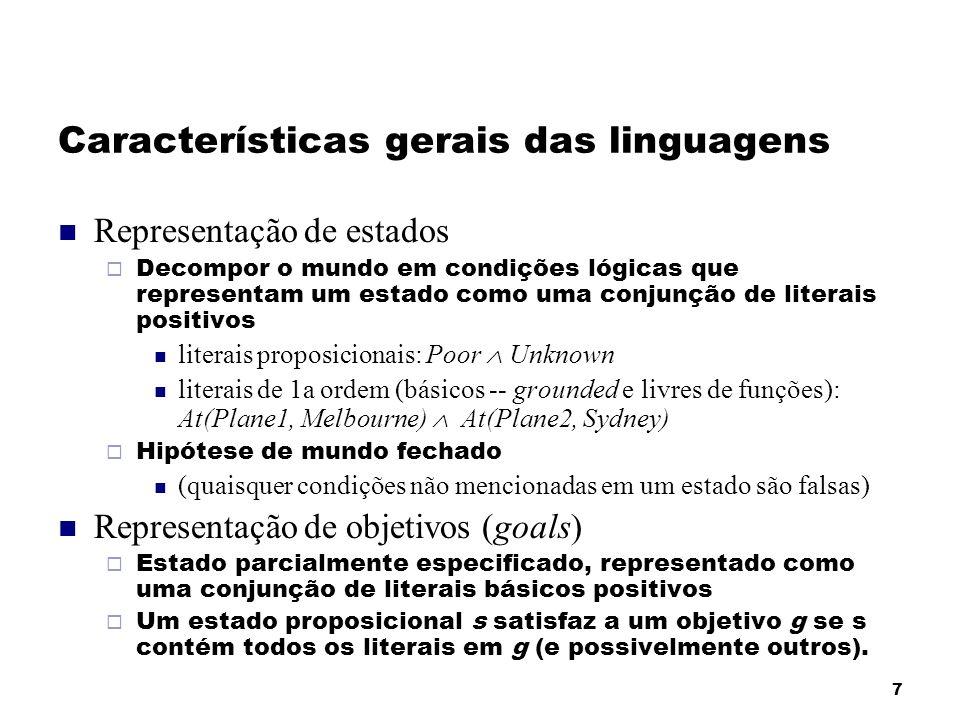Características gerais das linguagens