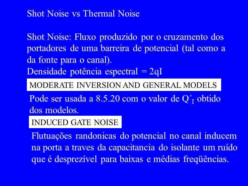 Shot Noise vs Thermal Noise