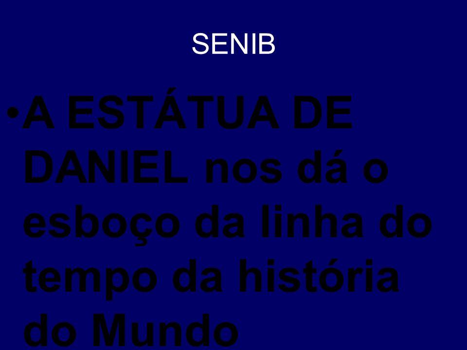 SENIB A ESTÁTUA DE DANIEL nos dá o esboço da linha do tempo da história do Mundo