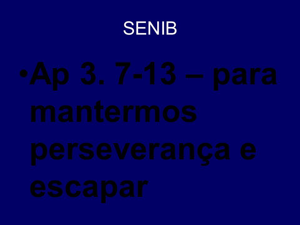 Ap 3. 7-13 – para mantermos perseverança e escapar