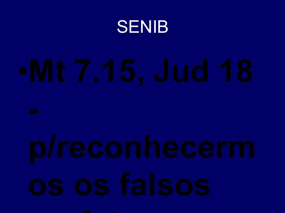 Mt 7.15, Jud 18 - p/reconhecermos os falsos profetas e anticristos