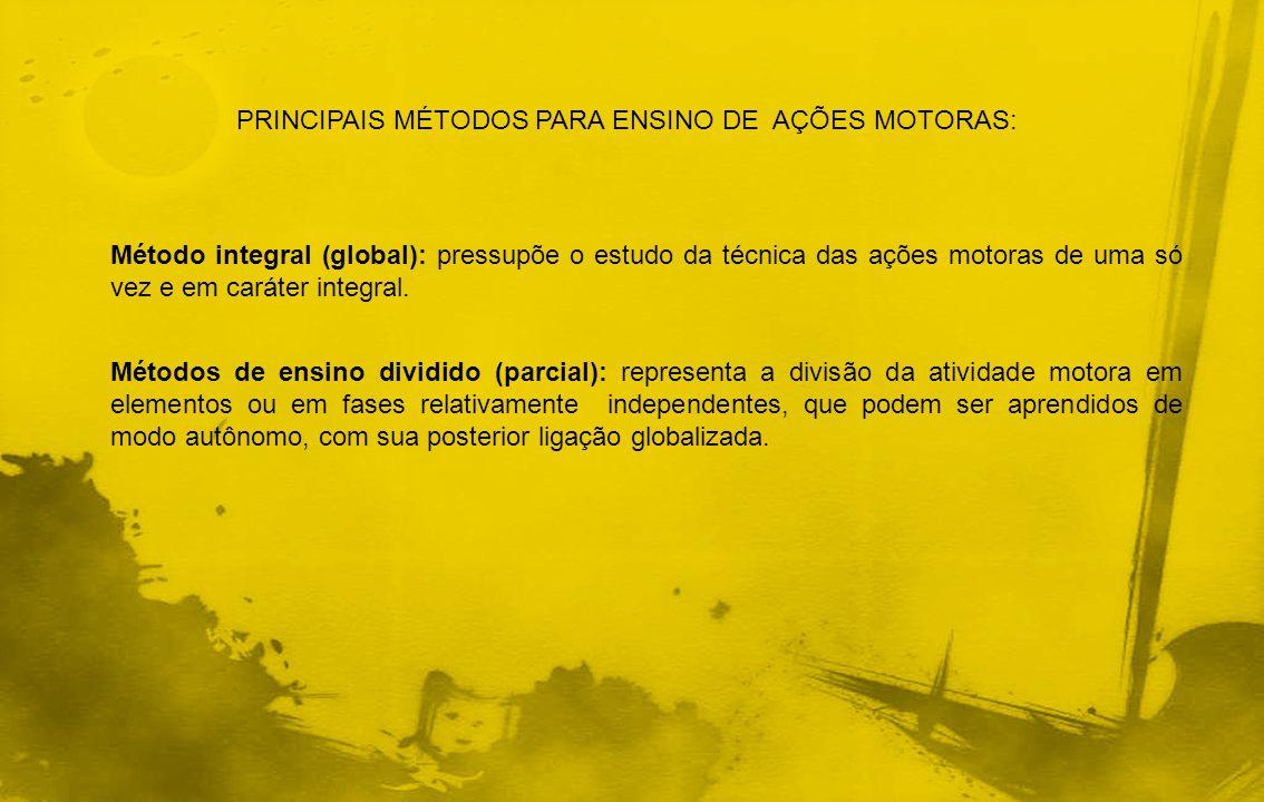 PRINCIPAIS MÉTODOS PARA ENSINO DE AÇÕES MOTORAS:
