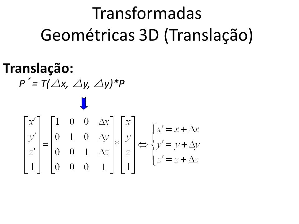 Transformadas Geométricas 3D (Translação)