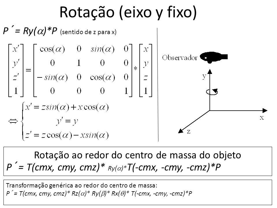 Rotação ao redor do centro de massa do objeto