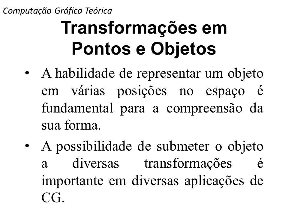 Transformações em Pontos e Objetos