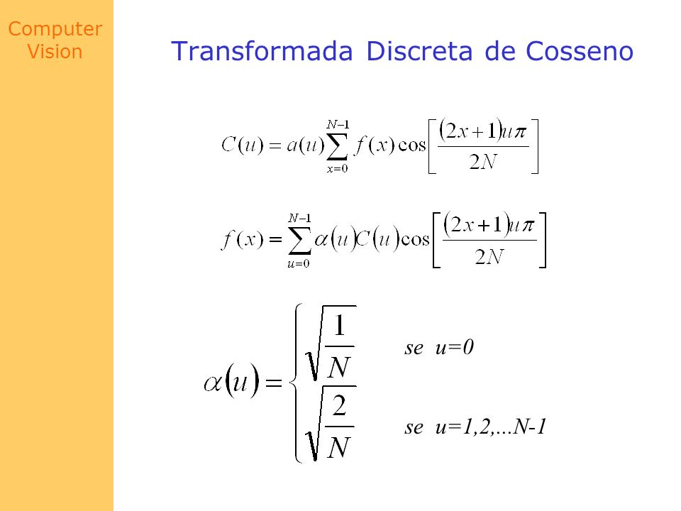 Transformada Discreta de Cosseno