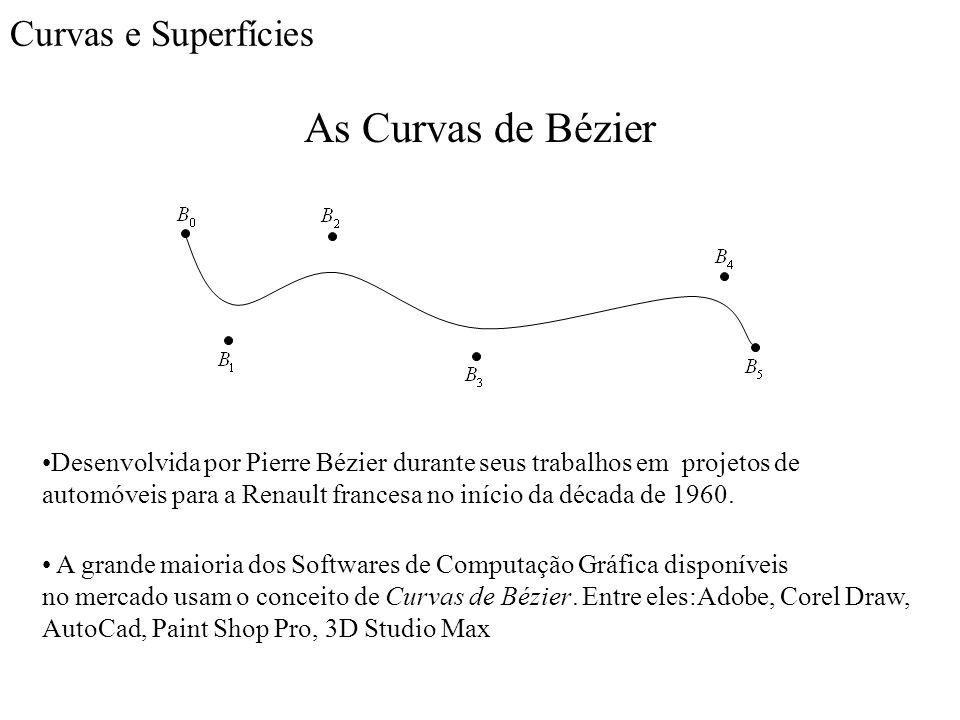 As Curvas de Bézier Curvas e Superfícies