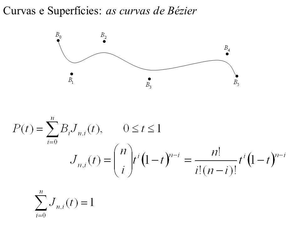 Curvas e Superfícies: as curvas de Bézier