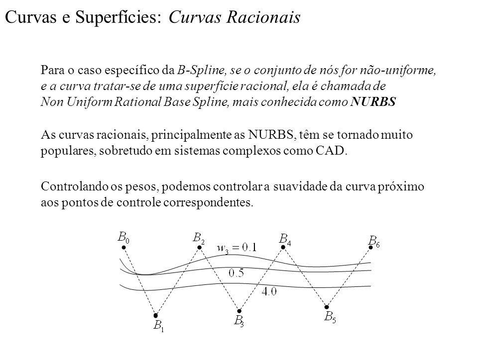 Curvas e Superfícies: Curvas Racionais