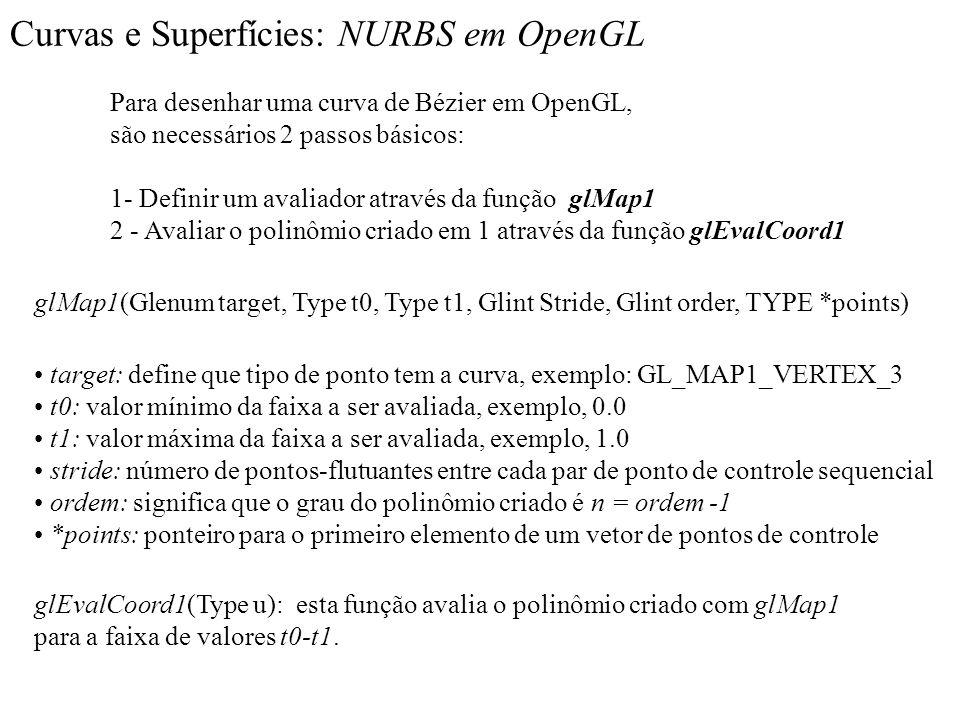 Curvas e Superfícies: NURBS em OpenGL
