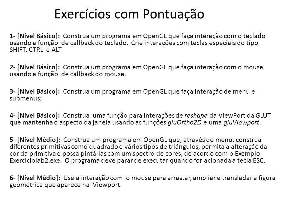 Exercícios com Pontuação