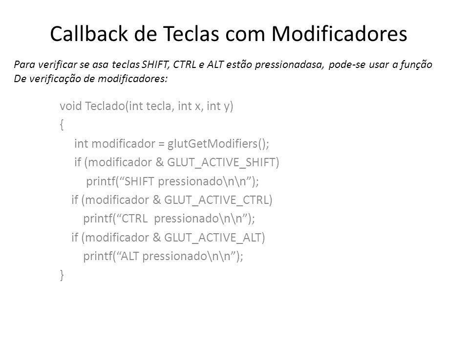 Callback de Teclas com Modificadores