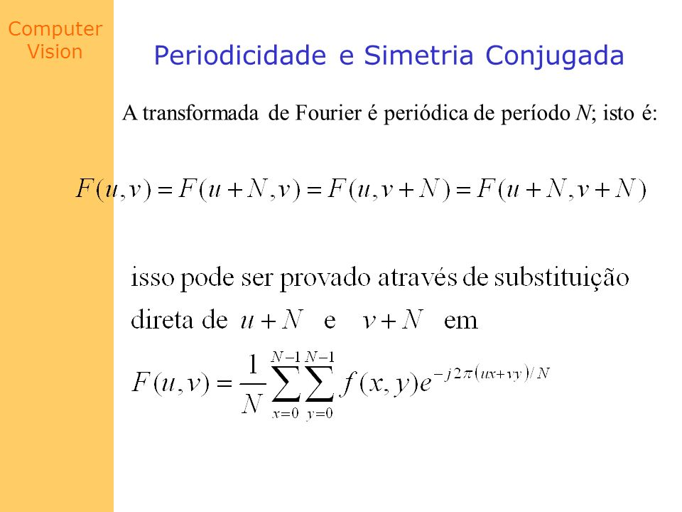 Periodicidade e Simetria Conjugada