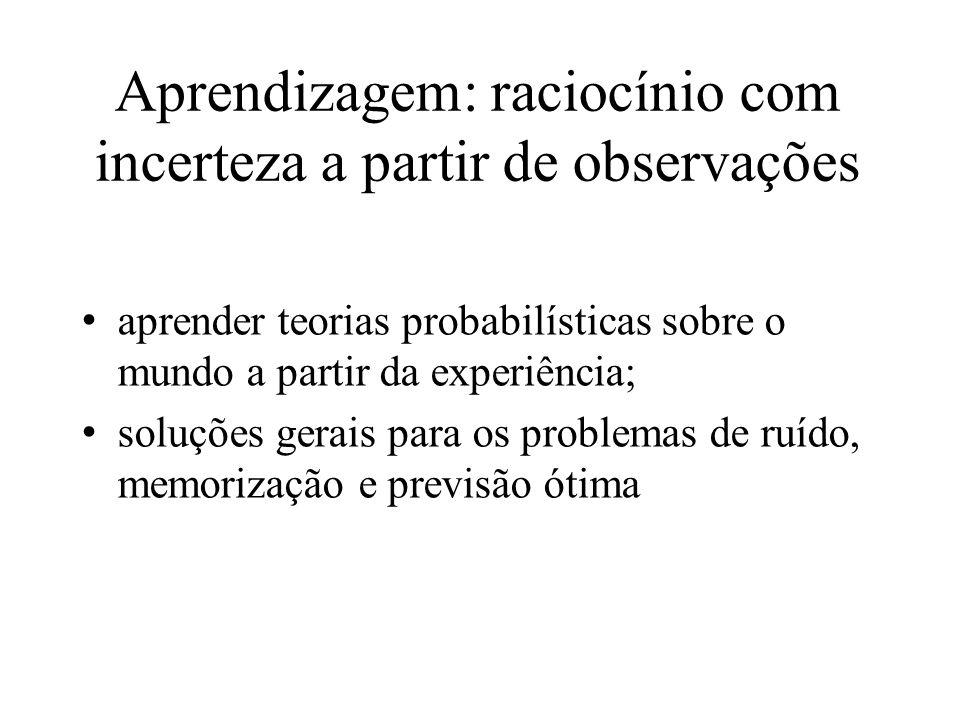 Aprendizagem: raciocínio com incerteza a partir de observações