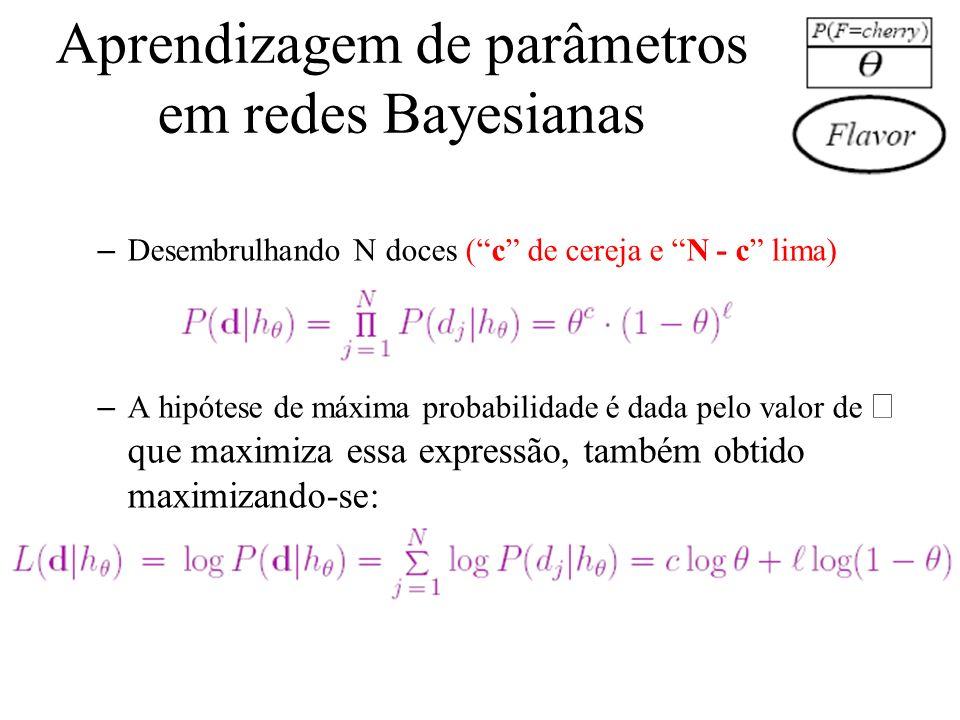Aprendizagem de parâmetros em redes Bayesianas