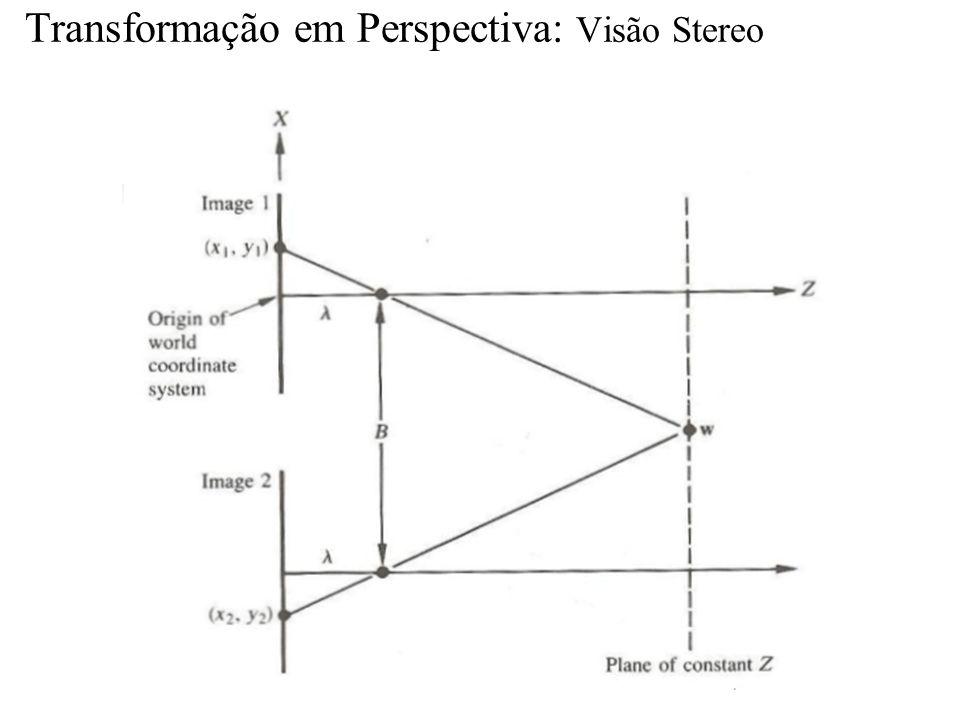 Transformação em Perspectiva: Visão Stereo