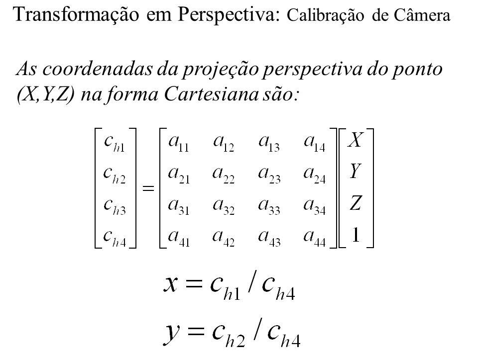 Transformação em Perspectiva: Calibração de Câmera