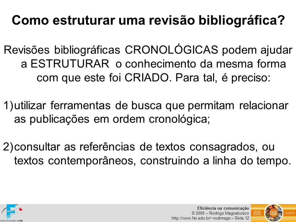 Como estruturar uma revisão bibliográfica